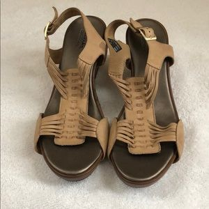 Clarks Bendables Soft Leather Wedges - Size 10M